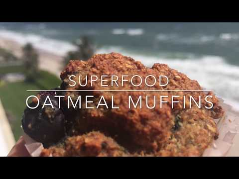 SUPERFOOD OATMEAL MUFFINS - Gluten-Free and Dairy-Free