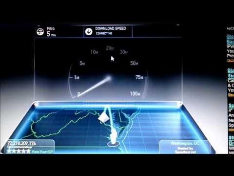 Speedtest.net with Cisco DPC3010 during midnight