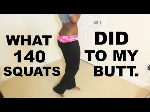 What 140 SQUATS in 1 day did to my BUTT.