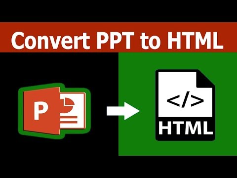 PPT Tutorial: How to Convert PPT Slide to HTML Web File in Microsoft PowerPoint Document 2017