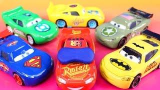 Disney Pixar cars 3  Lightning McQueen Dreams Jackson Storm Rescue Imaginext Batman Hulk Smash