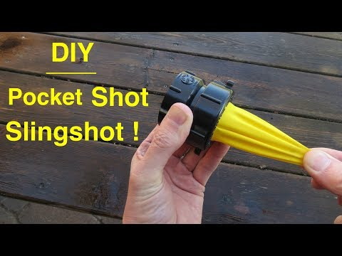 How To Make ● Simple Balloon Catapult  ( from plumbing parts ! )