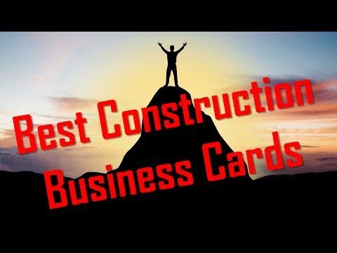 Best Construction Business Cards