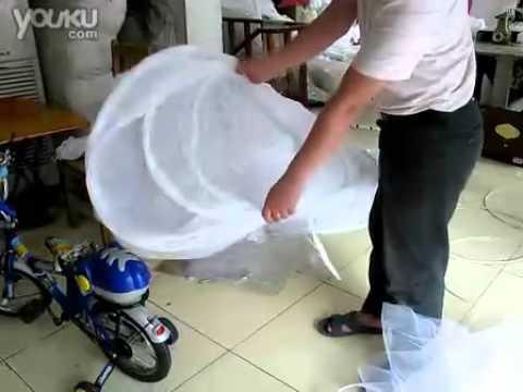 How to fold a hoop skirt crinoline petticoat 4