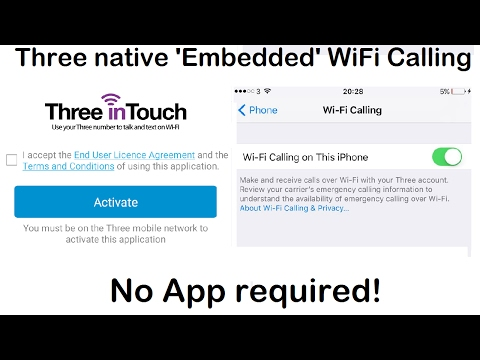 3 (Three UK) Native 'Embedded' WiFi Calling. No app required. (Three In Touch replacement)