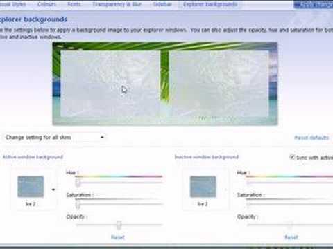 WindowBlinds 6 - Changing Explorer Backgrounds Screencast