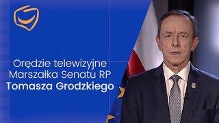Orędzie Marszałka Senatu RP Tomasza Grodzkiego.