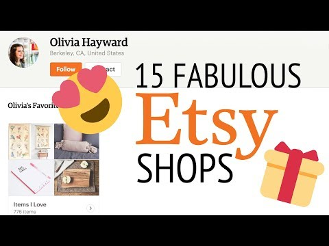 15 FABULOUS ETSY SHOPS | Handmade Gift Ideas for Women, Art Lovers, Foodies and Babies