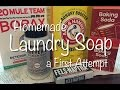 Homemade Laundry Soap - a First Attempt Video