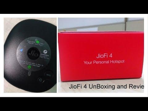 Reliance JioFi 4 Jio 4G Wirless Router & Hotspot Unboxing & Review !!