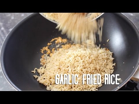 How to cook Filipino Garlic Fried Rice - Healthy version