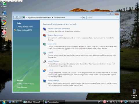 How to change the screen Resolution On windows Vista