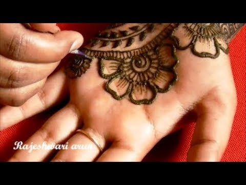 Ugadi Special Easy Beautiful Bridal Mehndi Designs For Hands 2018 * Simple Latest Mehndi * New Henna