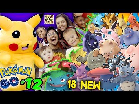 POKEMON GO! Got 18 New Creatures w/ Pikachu & FGTEEV Family (Part 12 Massive Evolving Gameplay)