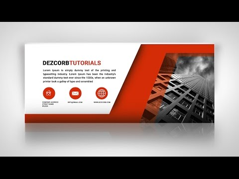 How to Create Facebook Cover Photo Design in Photoshop CS6 | Business Cover pic