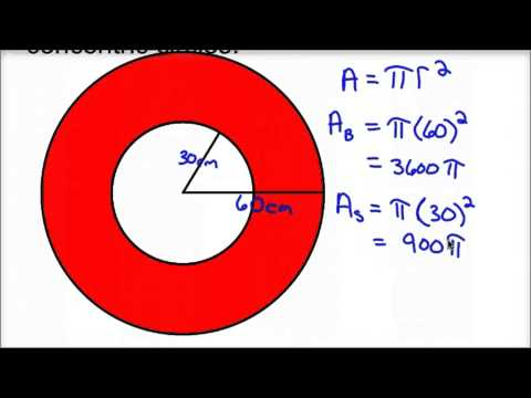 Area of Shaded Region Concentric Circles