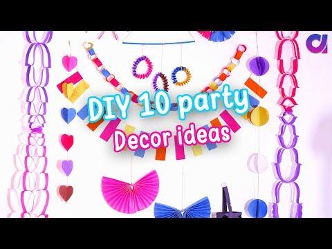 10 AMAZING DIY Easy Party Decorations Ideas | Cute Decor | birthday party ideas | Artkala 289