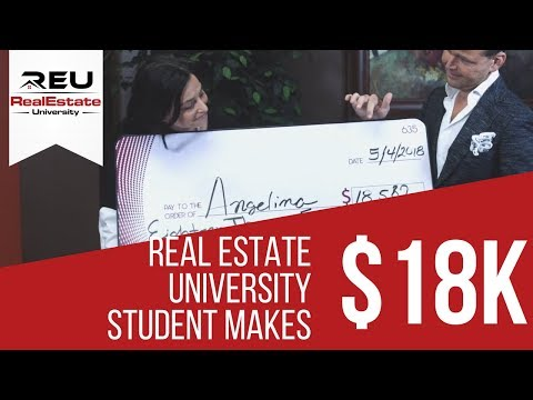Real Estate University Student Makes $18K a Month!