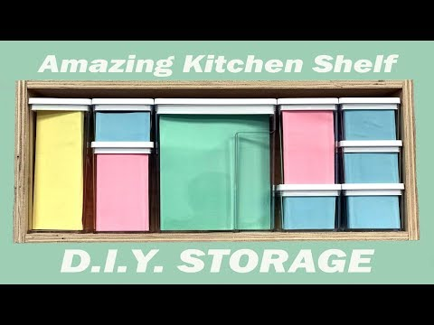 Kitchen Shelf - How To Make DIY Storage