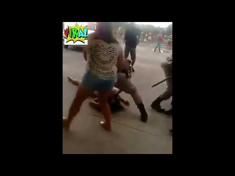 COPS FIGHTING IN BRAZIL!