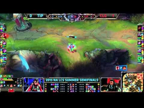 Korean Gank - CLG vs TiP Game 2 Semi-Finals - Rush Lee Sin Gank