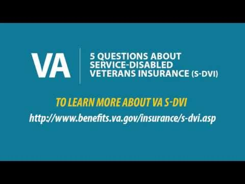 5 Questions about Service-Disabled Veterans Life Insurance (S-DVI)