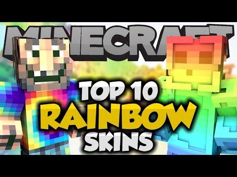 Top 10 Minecraft RAINBOW SKINS! Part 2 - Best Minecraft Skins