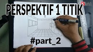 Cara Menggambar Perspektif 1 Titik Hilang Part2