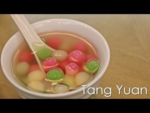 Tang Yuan (汤圆) Glutinous Rice Ball - DongZhi Festival - Recipe by ZaTaYa Yummy