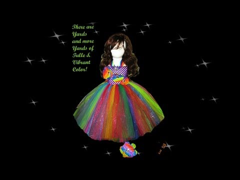 Make A Rainbow Sparkle Tutu Dress Tutorial
