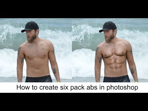 how to make six pack abs in phtoshop - Photoshop tutorials
