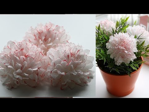 How To Make Small Tissue Paper Flower - DIY Paper Craft