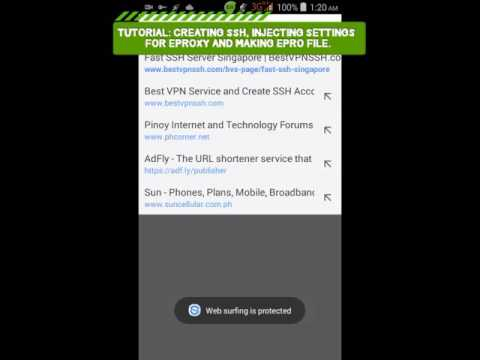 TUT ON HOW TO HAVE FREE INTERNET IN EPROXY (creating ssh, eproxy settings)