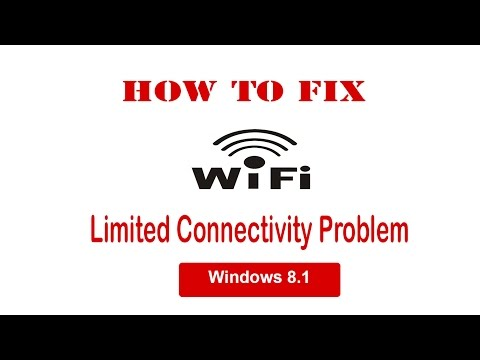 Windows 8.1 How to Fix wifi Limited Connectivity Problem!!!