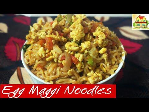 Egg Maggi Masala Noodles Recipe in Telugu   Mana illu