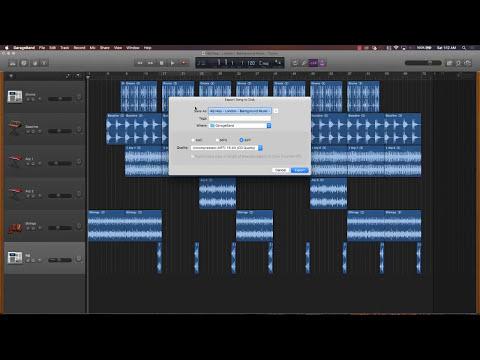 Create mp3 and wav files in GarageBand