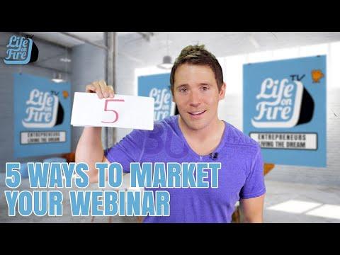 5 Ways To Market A Webinar