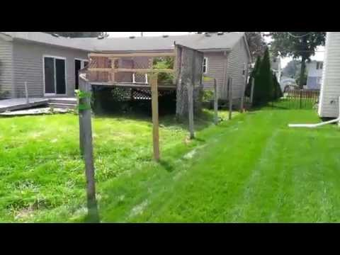 Fence Survey for a residential lot in Harrison Township, Macomb County, Michigan, USA
