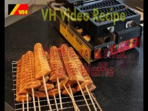 Waffle on a stick or lolly waffles on the VH Commercial waffle maker