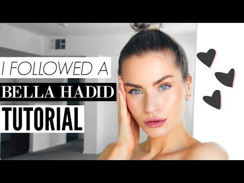 I TRIED FOLLOWING A BELLA HADID MAKE UP TUTORIAL | LYSSRYANN