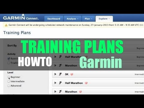Garmin Training Plans Using Garmin Connect - Heart Rate Training