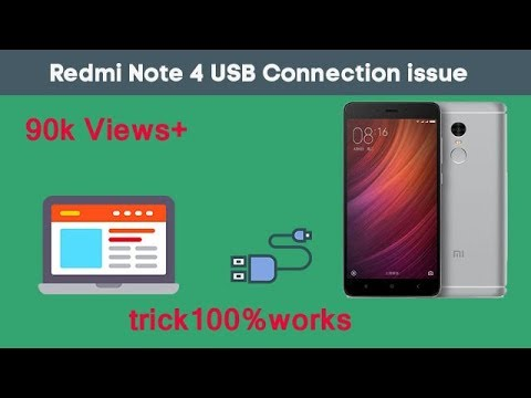 How to connect  redmi note 4 to PC  to transfer  files. Trick 100% works