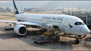 Cathay Pacific A350 Economy Class Hong Kong to Newark