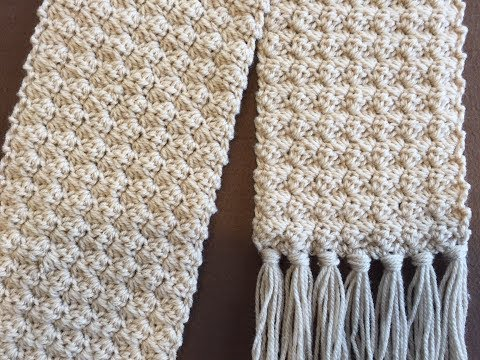 CROCHET SCARF TUTORIAL   Crochet Rose Bud Scarf   One Row Repeat   Easy and Elegant