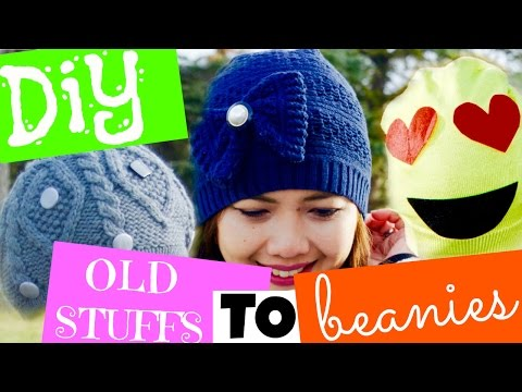 REPURPOSE 2: DIY BEANIES OUT OF Old Sweater,Scarf,Hat
