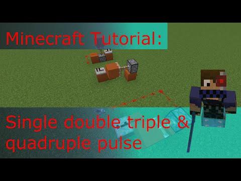 Minecraft tutorial: Single double triple & quadruple pulse (Monostable)