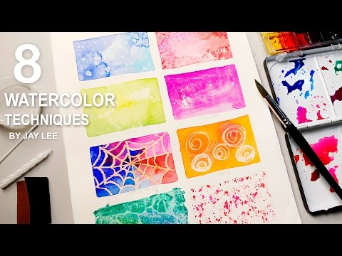 8 Watercolor Techniques for Beginners | Easy Basic Fun Art