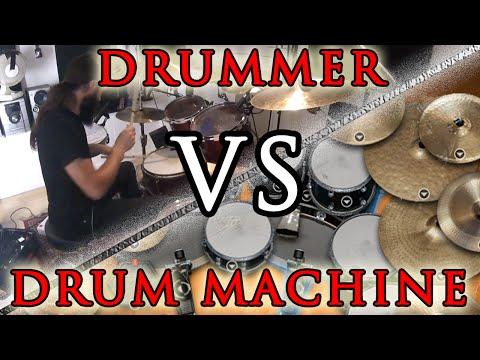 Drummer versus drum machine : how do they sound ? Fr with english subtitles !