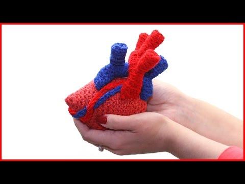How to Crochet an Anatomical Heart Amigurumi