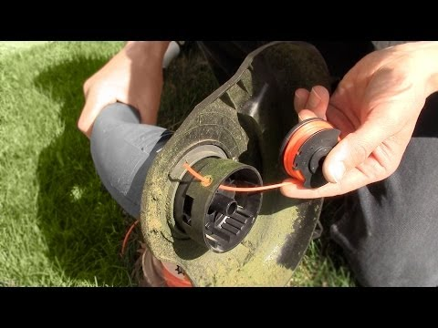 How to replace string trimmer edger line